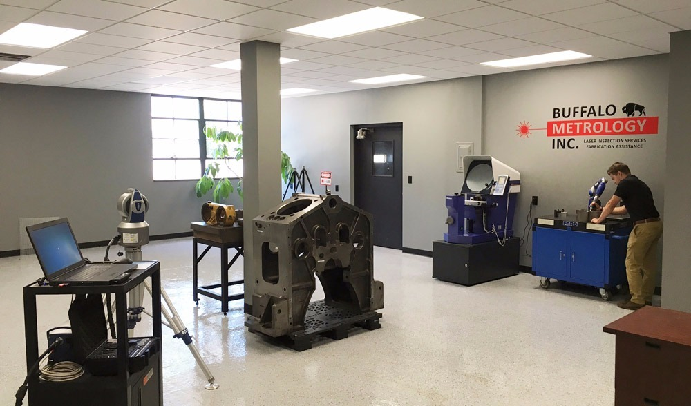 Climate controlled metrology laboratory utilized for training and small part measurement